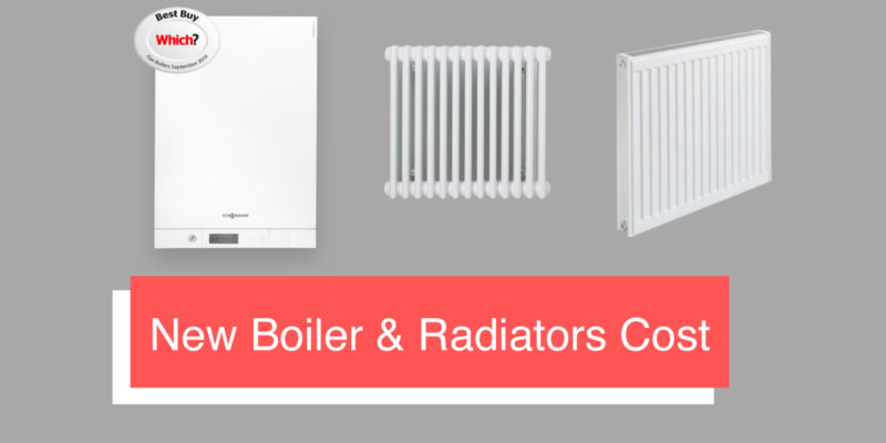 new boiler and radiator cost